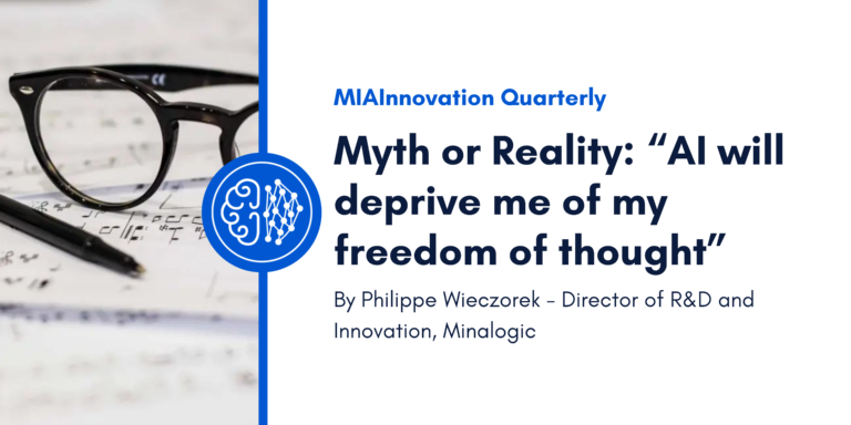 """Myth or Reality: """"AI will deprive me of my freedom of thought""""."""